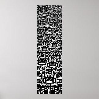 Multitud de robots posters