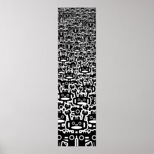 Multitud de robots póster