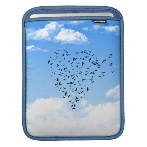 Multitud del corazón del amor de los pájaros mangas de iPad
