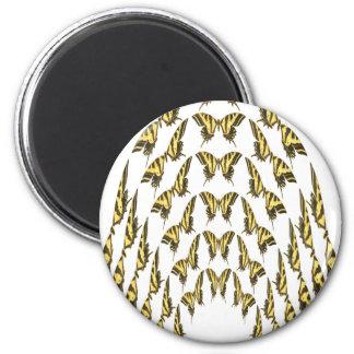 Multitud del este de Swallowtail del tigre que vue Imán Redondo 5 Cm
