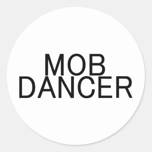 Multitud del flash del bailarín de la multitud etiquetas redondas