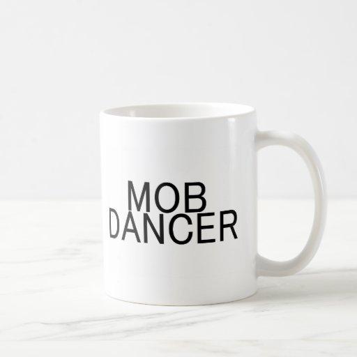 Multitud del flash del bailarín de la multitud taza básica blanca