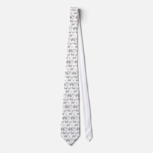 Multitud del lazo de las ovejas corbatas personalizadas