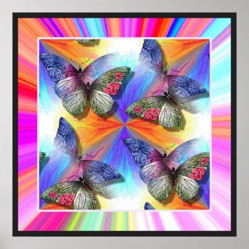 Multitud del poster de las mariposas