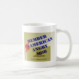 Multitud enojada americana del MIEMBRO Tazas De Café