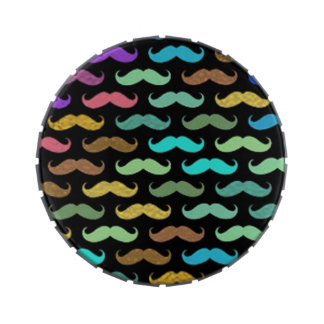 Multitude of Many Mustaches Design Candy Tins