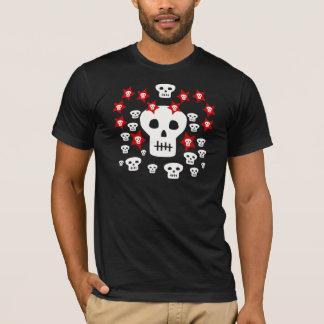Multitude of Skulls With Weird Stars (Dark Items) T-Shirt