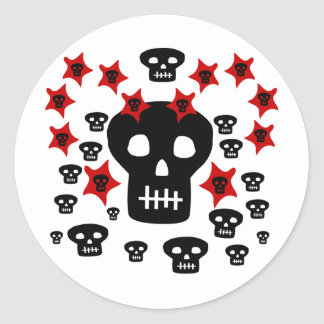 Multitude of Skulls With Weird Stars Stickers