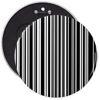 Multitudes of Uneven Black and White Stripes Button