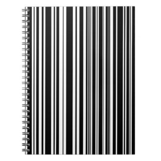 Multitudes of Uneven Black and White Stripes Notebook