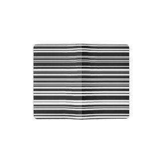 Multitudes of Uneven Black and White Stripes Pocket Moleskine Notebook