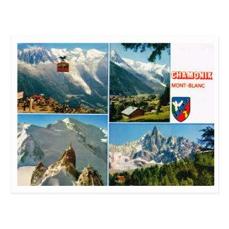 Multiview de las montañas francesas del vintage, C Tarjetas Postales