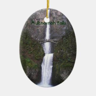 Multnomah baja foto Solo-Echó a un lado ornamento Adorno Navideño Ovalado De Cerámica