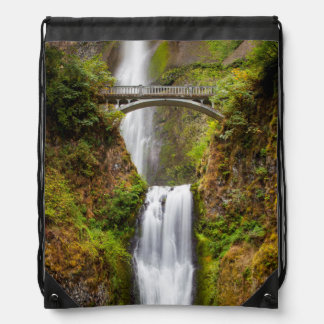 Multnomah Falls Along The Columbia River Gorge 2 Backpacks