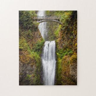 Multnomah Falls Along The Columbia River Gorge 2 Puzzles