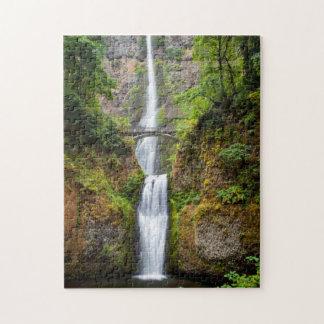 Multnomah Falls Along The Columbia River Gorge Jigsaw Puzzle