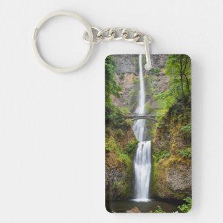 Multnomah Falls Along The Columbia River Gorge Rectangular Acrylic Keychain