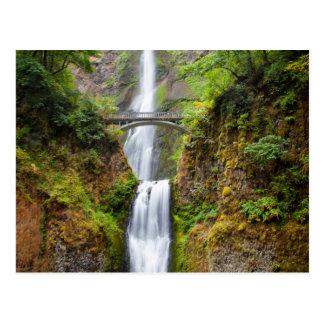 Multnomah Falls Along The Columbia River Gorge Postcard