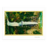Multnomah Falls and Benson Foot Bridge Postcard