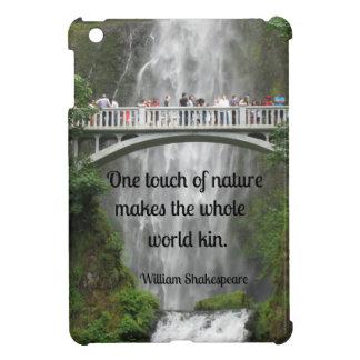 Multnomah Falls and quote about nature. iPad Mini Cases