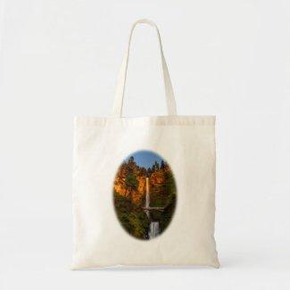 Multnomah Falls at Sunset Tote Bag