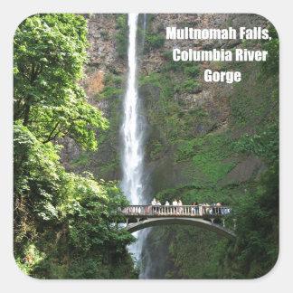 Multnomah Falls, Columbia River Gorge Square Sticker