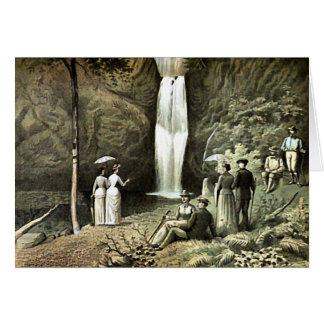 Multnomah Falls Corbett Oregon Edwardian Wall Art Card