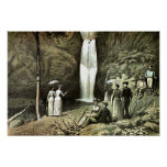 Multnomah Falls Corbett Oregon Edwardian Wall Art Poster