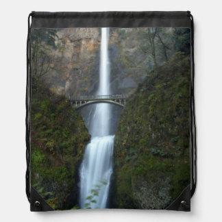 Multnomah Falls Drawstring Backpacks
