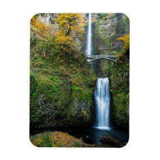 Multnomah Falls In Autumn In The Columbia Gorge Magnet