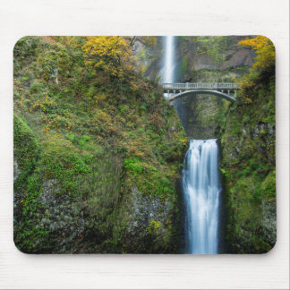 Multnomah Falls In Autumn In The Columbia Gorge Mouse Pad