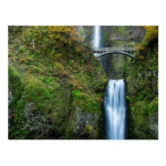 Multnomah Falls In Autumn In The Columbia Gorge Postcard