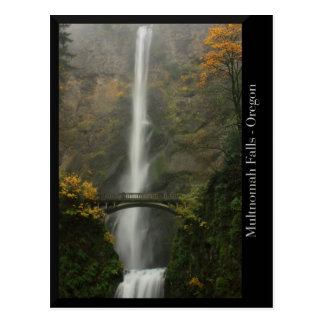 Multnomah Falls in Autumn Postcard