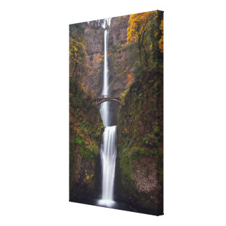 Multnomah Falls in late Autumn Canvas Print