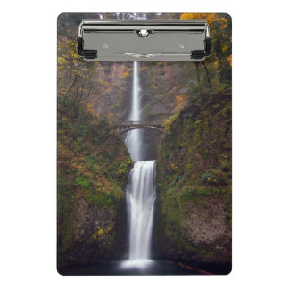 Multnomah Falls in late Autumn Mini Clipboard