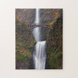 Multnomah Falls in late Autumn Puzzles