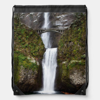 Multnomah Falls in the Columbia Gorge Drawstring Backpack