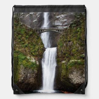 Multnomah Falls in the Columbia Gorge Drawstring Backpack