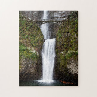 Multnomah Falls in the Columbia Gorge Jigsaw Puzzle