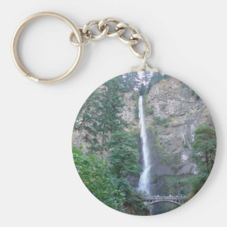 Multnomah Falls  in the Oregon Gorge Basic Round Button Keychain