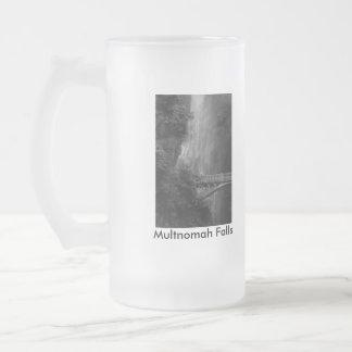 Multnomah Falls, Multnomah Falls, Multnomah Fal... Frosted Glass Beer Mug