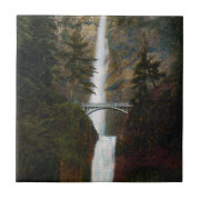 Multnomah Falls Oregon Ceramic Tile
