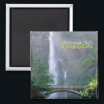 """Multnomah Falls Oregon Travel Souvenir Magnet<br><div class=""""desc"""">Tip: dated travel magnets are a fun way to keep a chronology of your travels and Zazzle makes it easy to add a date.</div>"""