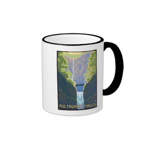 Multnomah Falls, OregonMaiden of the Falls Ringer Coffee Mug