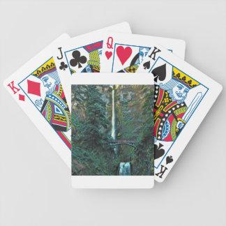 Multnomah Falls Portland Oregon Bicycle Playing Cards