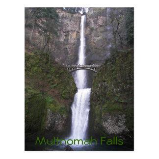 Multnomah Falls Travel Photo Postcard