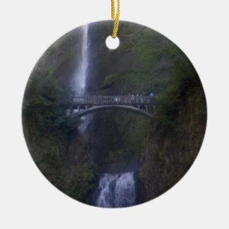 Multnomah Falls Waterfall Christmas Ornament