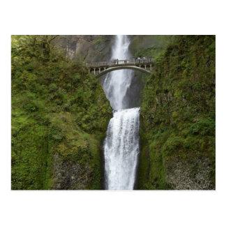 Multnomah Falls Waterfall Postcard