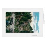 Multnomah Falls with Benson and Highway Bridges Card