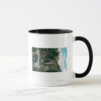 Multnomah Falls with Benson and Highway Bridges Mug